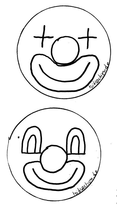clown gesicht basteln clown gesicht vorlage abc buch kindergarten zirkus