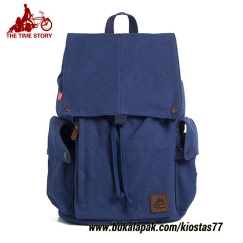 jual tas punggung pria tas canvas tas kuliah tas laptop