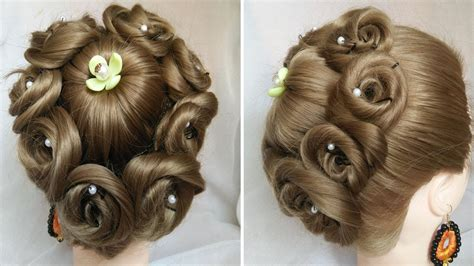 easy  amazing juda hairstyle  flower bun bridal