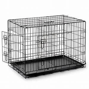 smithbuilt double door folding metal dog crate 36 inch With 36 inch dog crate with divider