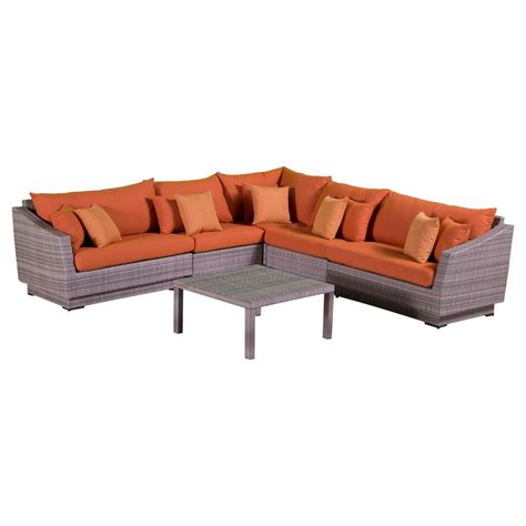 rst brands cannes 6 patio corner sectional set with