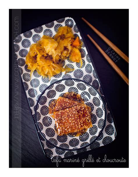 cuisiner la choucroute crue choucroute végétarienne au potimarron et tofu mariné