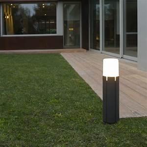 Borne Luminaire Extérieur : borne d 39 ext rieur tram noir h43cm faro luminaires ~ Teatrodelosmanantiales.com Idées de Décoration