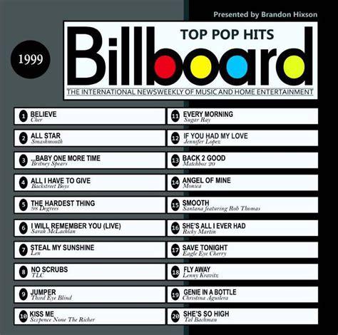 1999 : Top 20 | Pop hits, Billboard hits, Top country hits