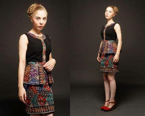 model baju batik terbaru wanita ethnic batik dress