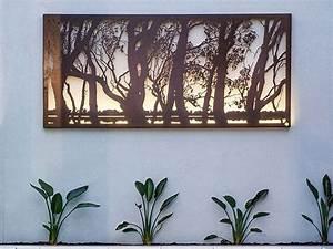 Metal Garden Art & Sculptures Outdoor Metal Wall Art