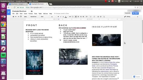 google docs flyer how to make a brochure on docs