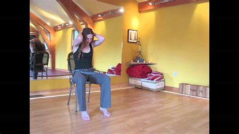 chair yoga sequence from kaliyoga youtube
