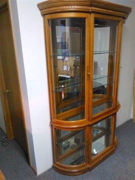 oak curio cabinet hutch buffet piece   tall