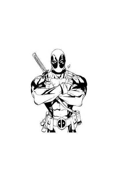 Deadpool Coloring Pages Printable Sheets Deviantart Marvel