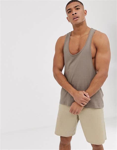 Asos Vest With Racer Back asos design vest with racer back in beige asos
