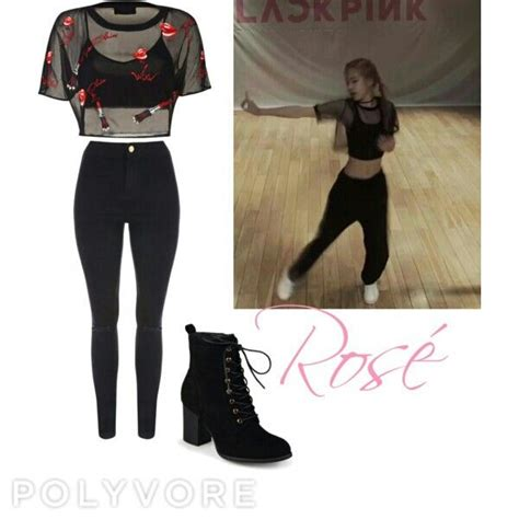 Rosu00e9 (Blackpink) inspired outfit from the dance practice of whistle. By Me | Style ...
