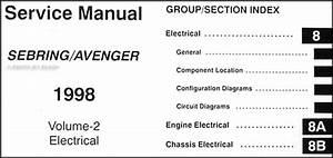 1998 Chrysler Sebring Dodge Avenger Repair Shop Manual