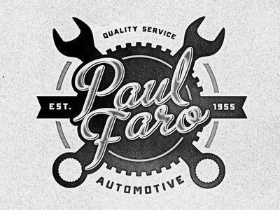 paul faro automotive automotive logo logos design logos