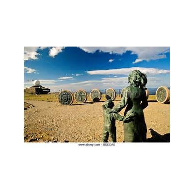 Nordkapp Cape North Sculpture Stock Photos &