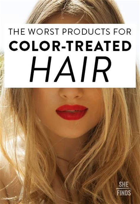 The Worst Products For Color Treated Hair Beautyfashion