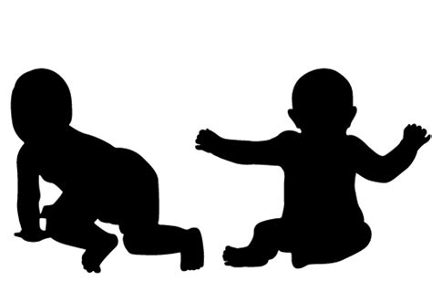 two free baby silhouette vector for free download awesome