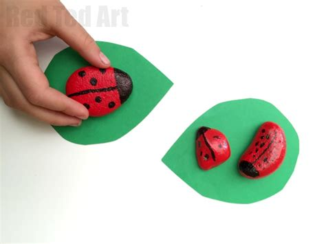 stone crafts easy ladybird stones red ted arts blog