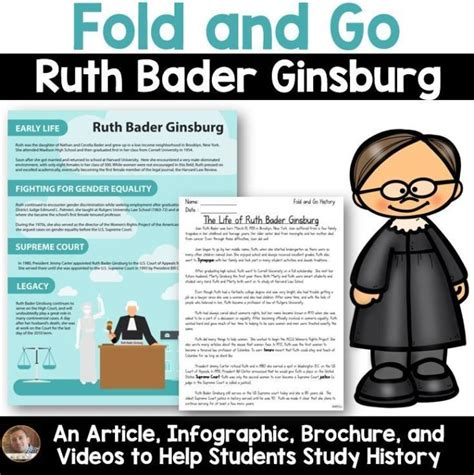 educational infographic fold   biography ruth
