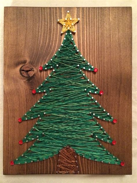 christmas tree string art order  kiwistrings  etsy