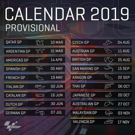 intip kalender motogp   total  seri