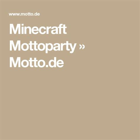 Minecraft Mottoparty » Mottode Mottopartyminecraft