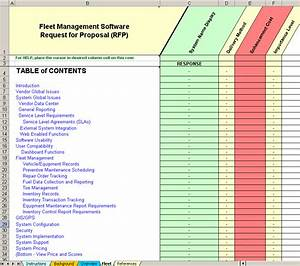 fleet system software evaluation and selection rfp With fleet management documents
