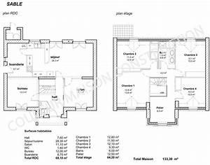 couleur maison construction le plan de maison de notre With plan maison 2 niveaux 18 architecte maison individuelle contemporaine bourgoin