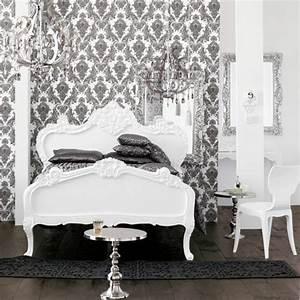 barock tapete stil aus alten zeiten in zeitgenossischer form With balkon teppich mit barock tapete schwarz weiß