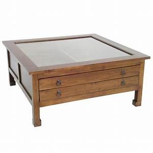 Table Basse Carrée : table basse carr e vitr h v a 100x100x40cm maori ~ Teatrodelosmanantiales.com Idées de Décoration