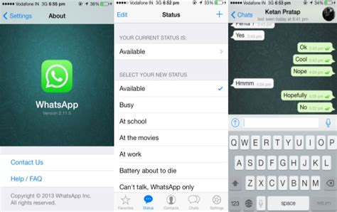 whats a app for iphone whatsapp updated for iphone brings new ios 7 style ui and