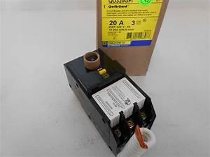 Nib Square D Qo320gfi 3 Pole 20 Amp 240v Plug On Qo