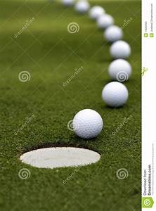 Golf Ball - Breaking Putt stock photo. Image of focus ...