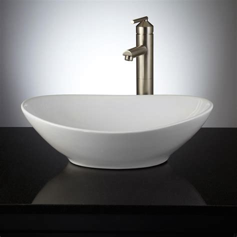 valor oval porcelain vessel sink bathroom