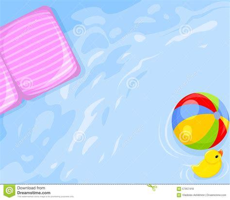 materasso acqua acqua materasso palla anatra illustrazione vettoriale