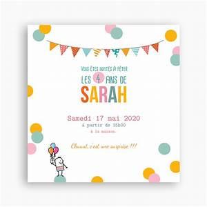 Invitation Anniversaire Fille 9 Ans : invitation anniversaire fille 4 ans amazing ~ Melissatoandfro.com Idées de Décoration