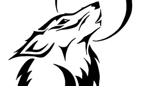 wolf tattoo silhouette ideas