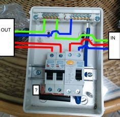 how to wire rcd in garage shed consumer unit uk consumer unit wiring diagram youtube