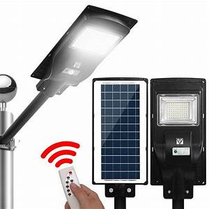 Led Solar Street Flood Light Motion Sensor Remote Outdoor