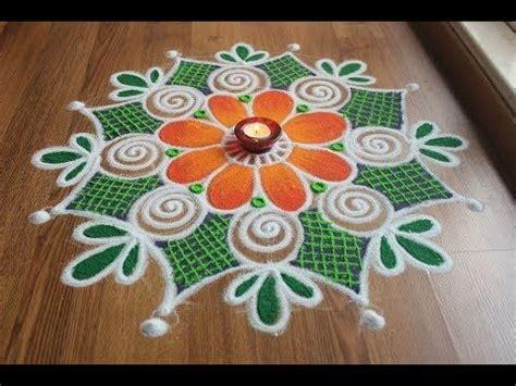 freehand rangoli easy  simple rangoli uptodate daily
