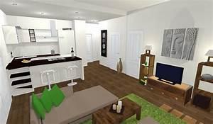 cuisine cuisine ouverte sur salon photos cuisine moderne With modele de cuisine ouverte sur salon