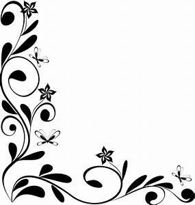 Clip Art Flowers Black And White Border - ClipArt Best