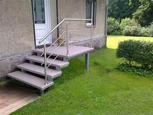 Treppenstufen Außen Beton : treppe aussen haus eingang podest naturstein granit beton stufe tritt beige au entreppe ~ Frokenaadalensverden.com Haus und Dekorationen