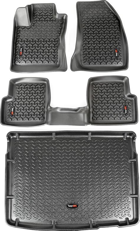 Rugged Ridge Vs Bestop Floor Liners by Rugged Ridge 12988 40 Liner Combo For 15 17 Jeep