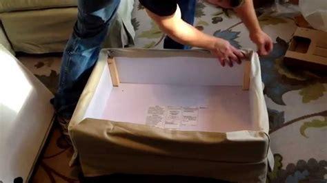 How To Install Cover On Ikea Ektorp Footstool Ottoman