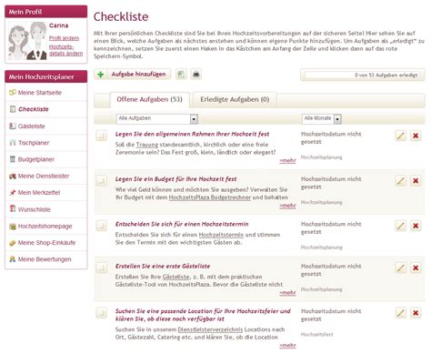 urlaubs checkliste kostenlos hochzeitsplanung mit hochzeitsplaza de baninana produkttests
