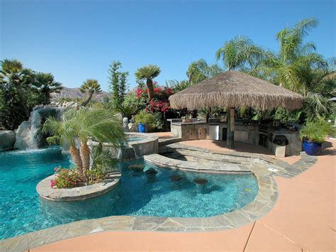tropical swimming pool with outdoor kitchen amp exterior tile floors in el cajon ca zillow digs