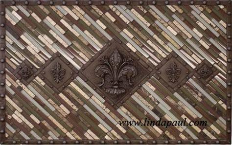 Fleur De Lis Backsplash : 5 Fleur De Lis Backsplash Metal And Mosaic Tile Medallion