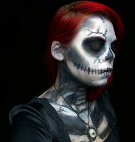 horror gesicht schminken fuer halloween