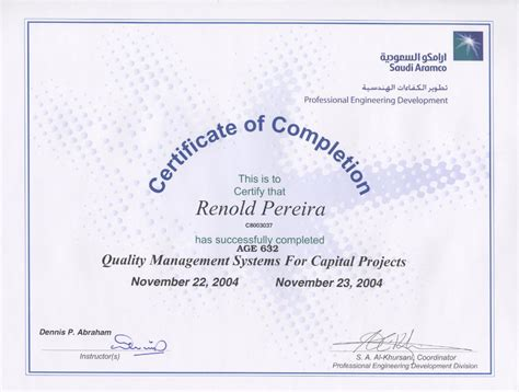 renold pereira project technical office